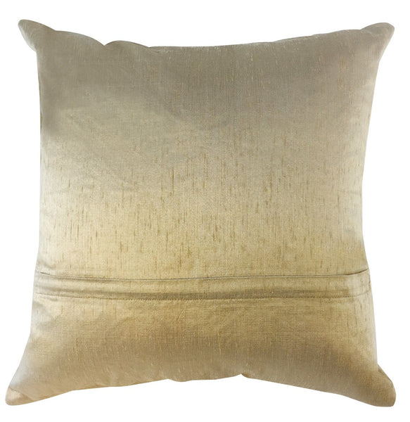 Tan Indonesian silk pillow