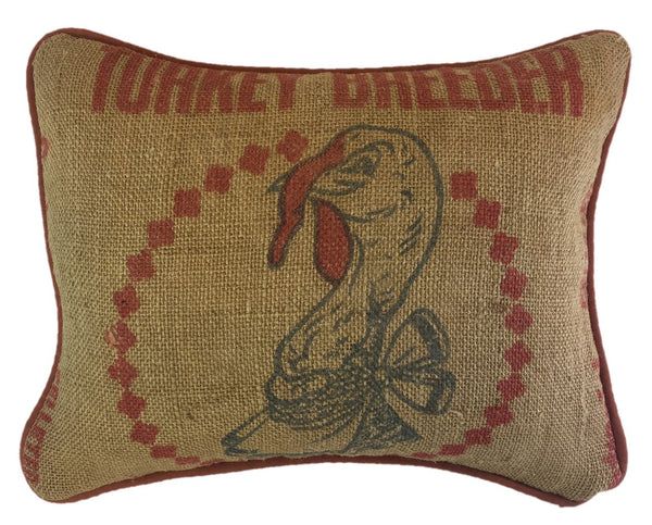 Turkey Feed Sack Pillow