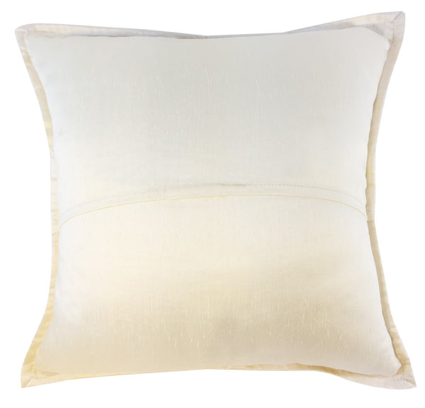 White silk pillow with paisley center