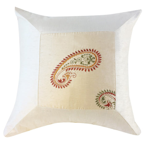 Stunning white silk pillow