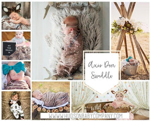rustic axis deer skin swaddle