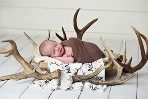 rustic horns adn arrows swaddle