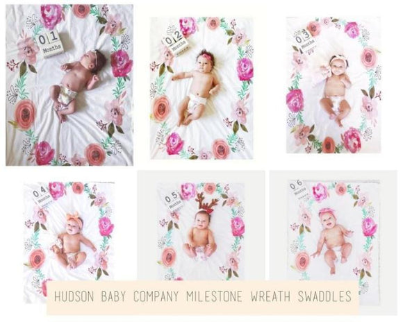 mielstone wreath swaddle blanket customize