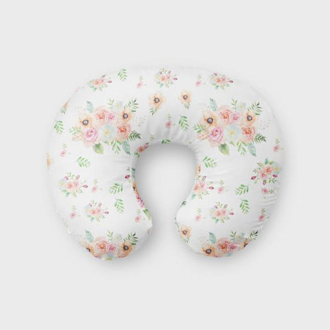 peach watercolor floral boppy cover