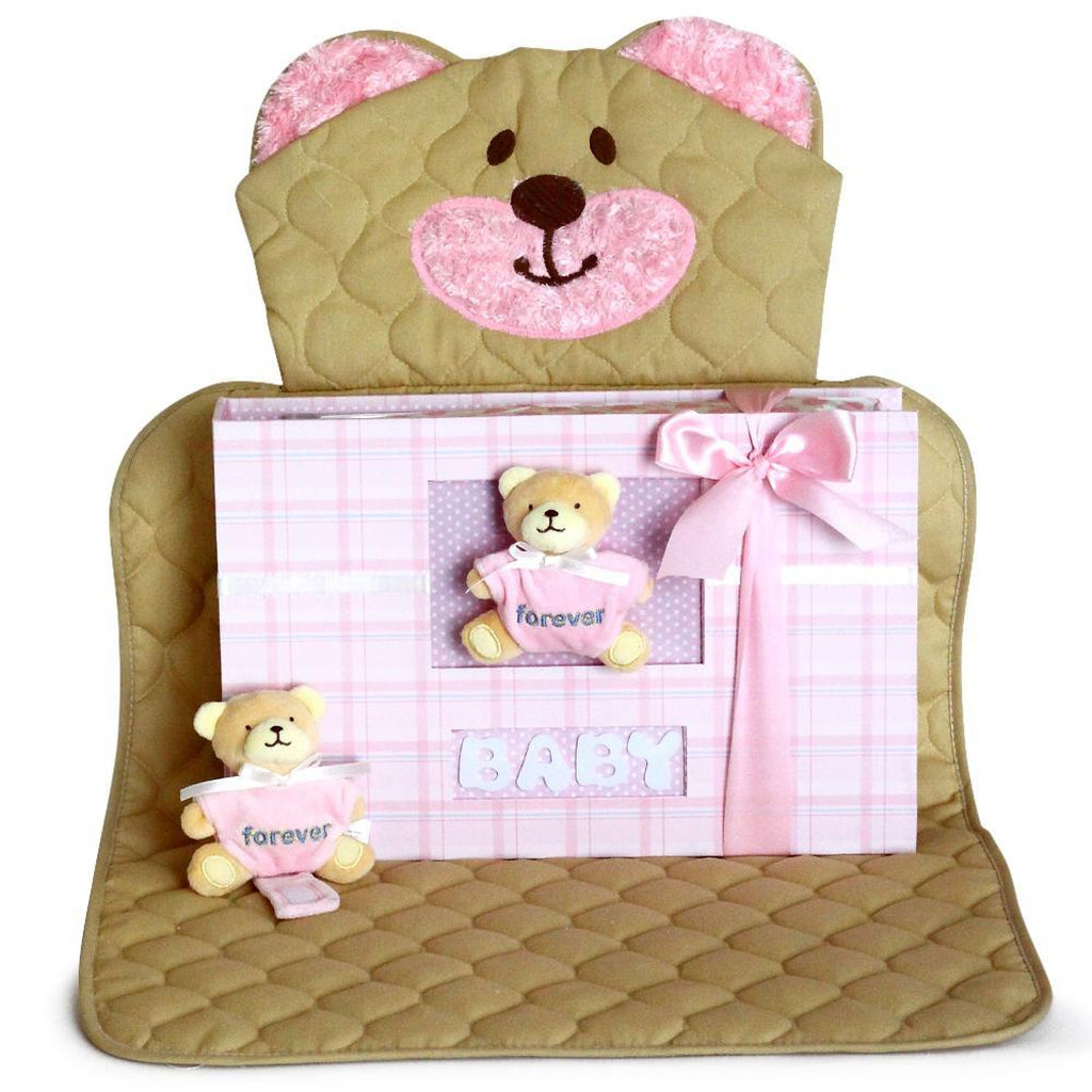 Bear Changing & Play Mat Keepsake Baby Girl Gift