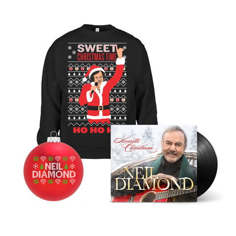 Acoustic Christmas LP + Christmas Sweatshirt + Christmas Ornament