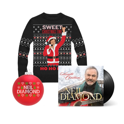 Acoustic Christmas LP + Christmas Knit Sweater + Christmas Ornament