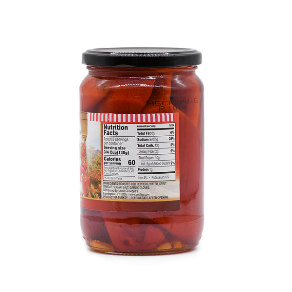 Uncle Giuseppe's Marinated Fire Red Roasted Peppers