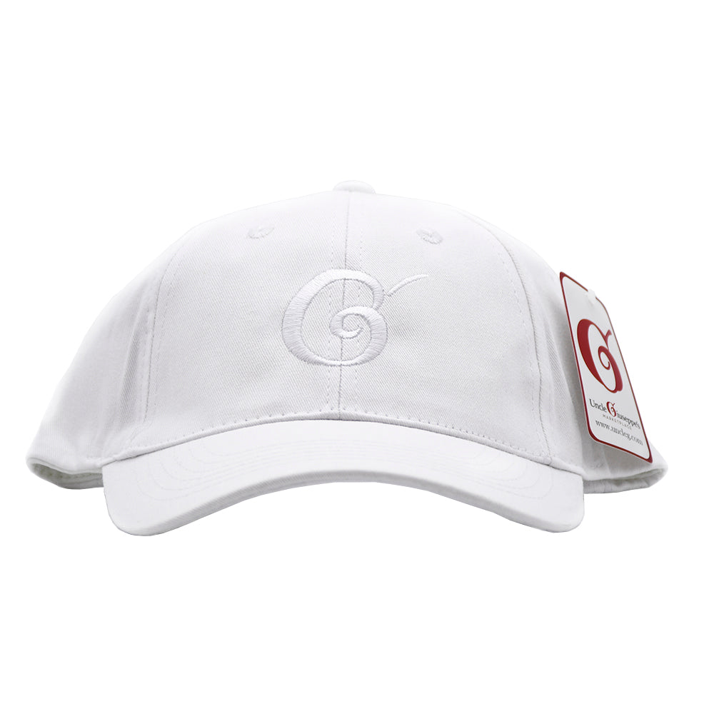 Uncle Giuseppe's White Logo Hat