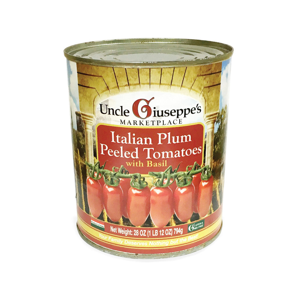 Uncle Giuseppe's Italian Plum Peeled Tomatoes with Basil - Uncle Giuseppe's