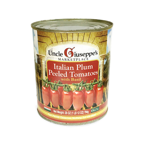 Uncle Giuseppe's Italian Plum Peeled Tomatoes with Basil