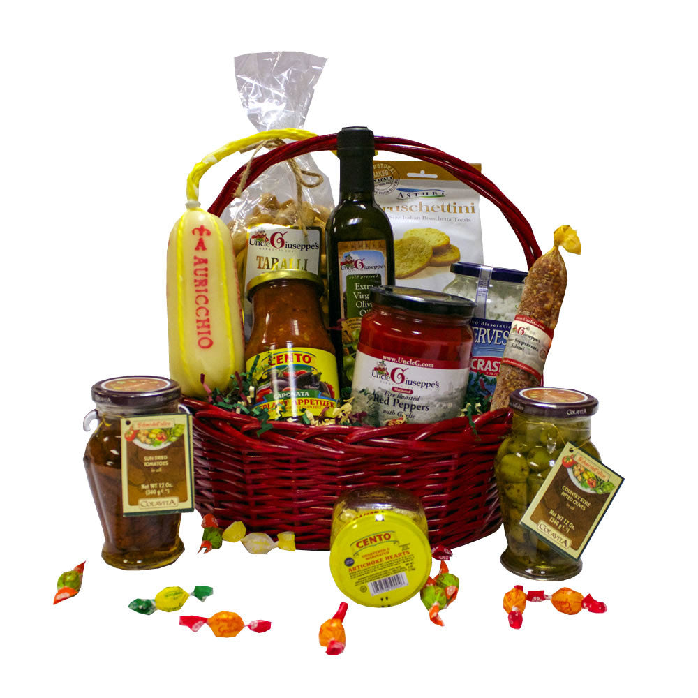 Antipasto Gift Basket - Uncle Giuseppe's
