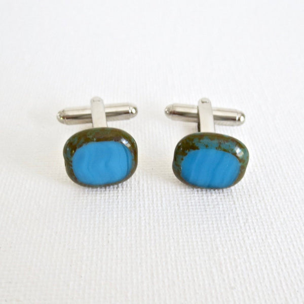 Blue Stones Cufflinks - Men's Accessories and gifts for him