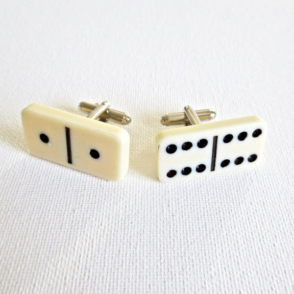 Domino Pieces Cufflinks - Groomsmen Groom Wedding Gift For Him