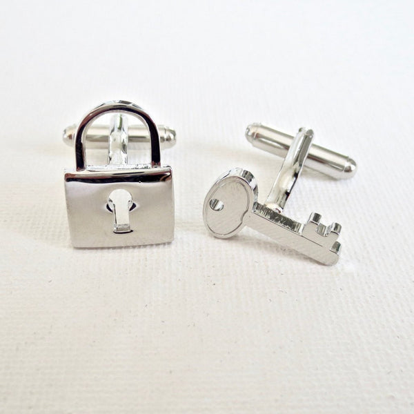 Lock and Key Wedding Cufflinks - MarkandMetal.com