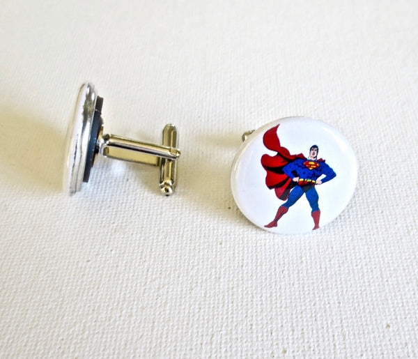 Superman Cufflinks - MarkandMetal.com