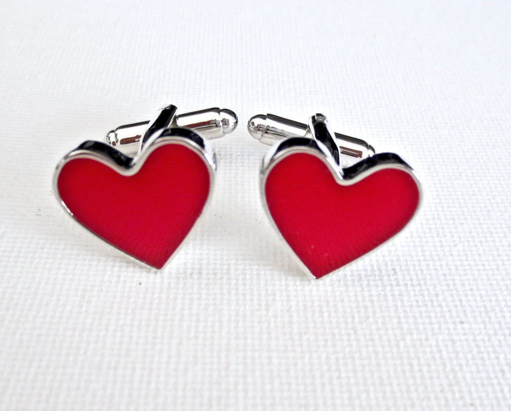 Hearts Valentine's Day Cufflinks - Groomsmen Groom Wedding Gift For Him