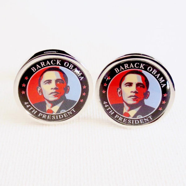 President Obama Cufflinks - MarkandMetal.com