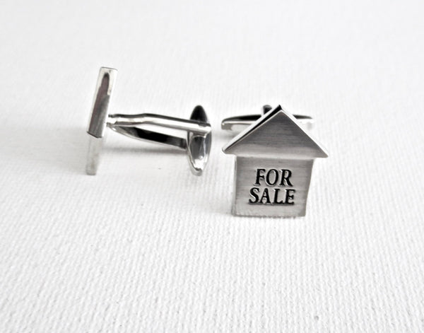 Real Estate Cufflinks - MarkandMetal.com
