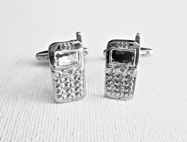 Cell Phone Cufflinks - Men's Accessories and gifts for him