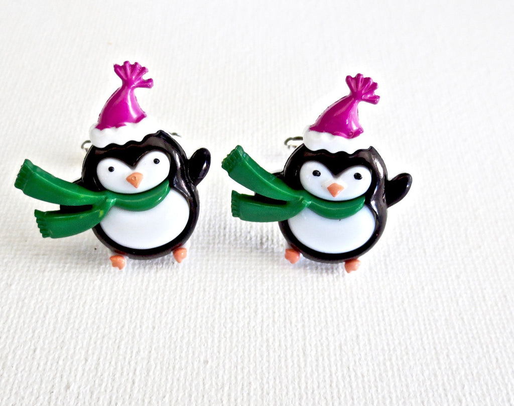 Penguins Winter Holiday Cufflinks - MarkandMetal.com
