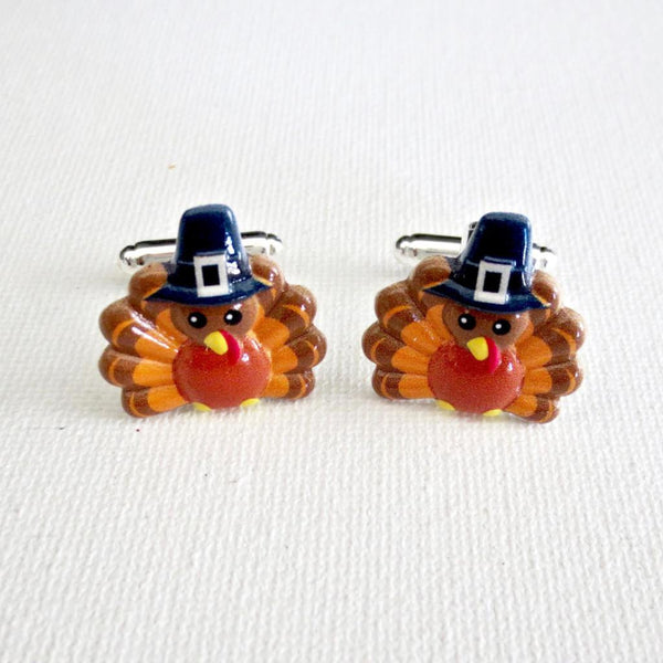Thanksgiving Turkey Holiday Cufflinks - MarkandMetal.com