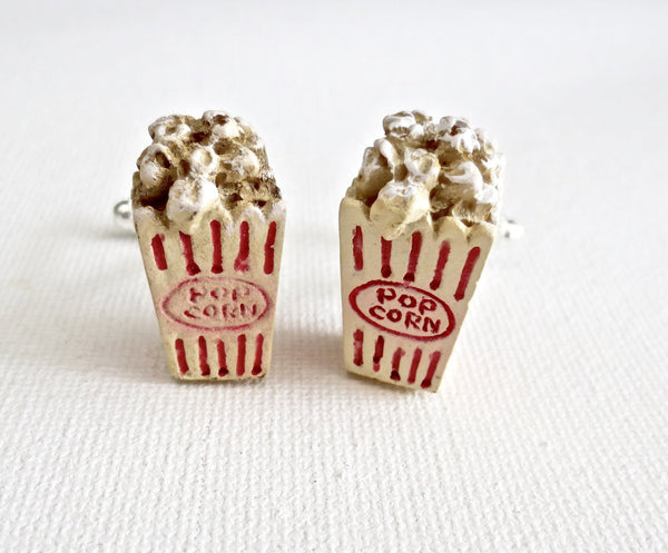 Popcorn Movie Cufflinks - MarkandMetal.com
