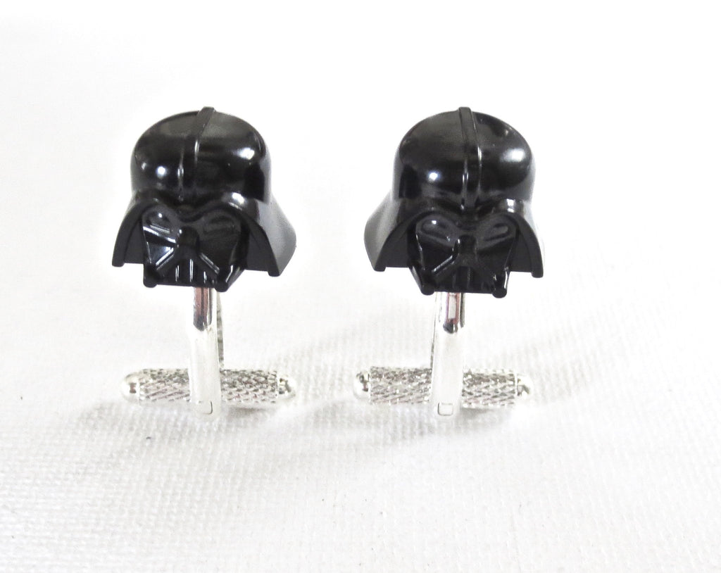 LEGO Darth Vader Helmet Cufflinks Star Wars - MarkandMetal.com