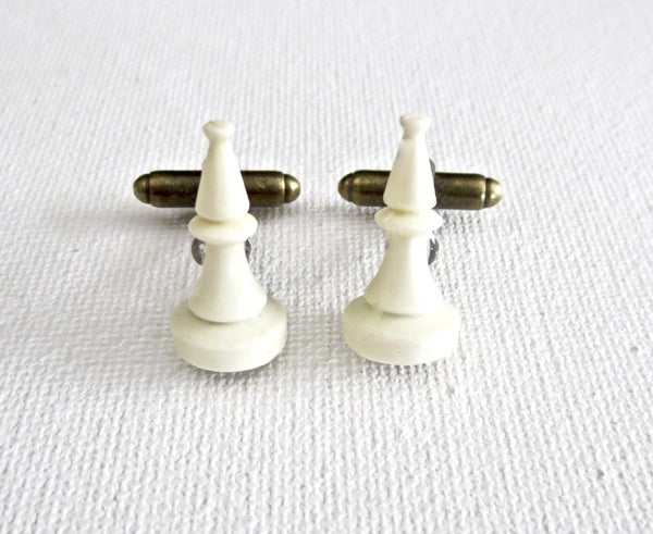 Chess Player Bishops Cufflinks - MarkandMetal.com