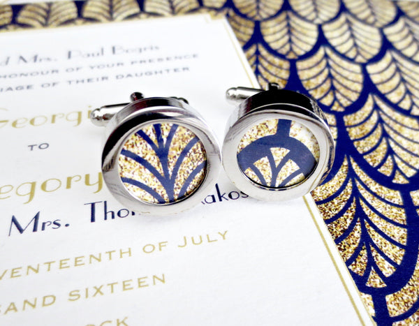 Wedding Invitation Cufflinks - Men's Accessories and gifts for him