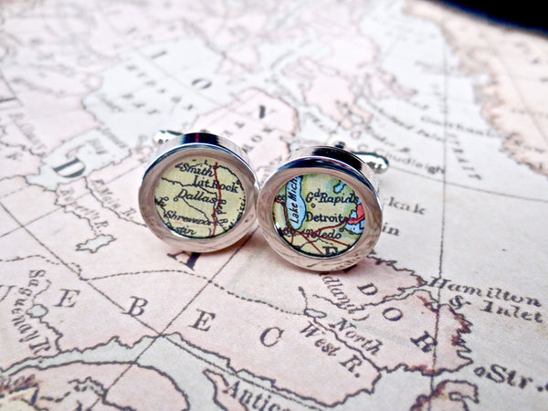 Subway Map Cufflinks.Map Cufflinks For Men