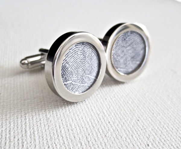 Your Fingerprints On Cufflinks - Men's Accessories and gifts for him
