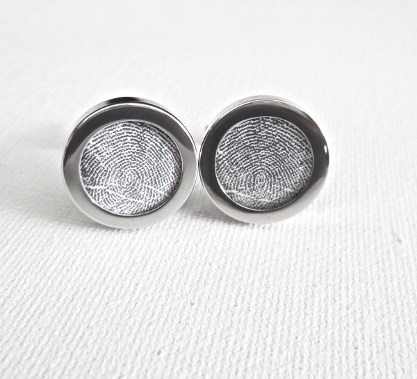 Your Fingerprints On Cufflinks - MarkandMetal.com