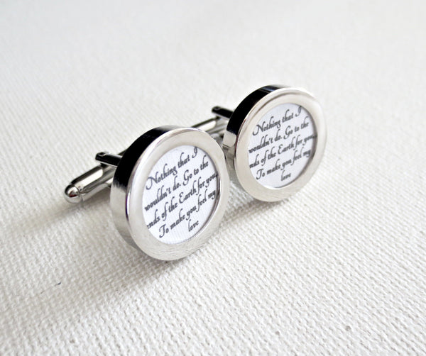 Cotton 2nd Anniversary Cufflinks - Groomsmen Groom Wedding Gift For Him