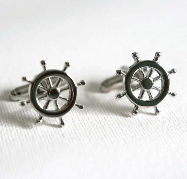 Nautical Rudder Cufflinks - MarkandMetal.com