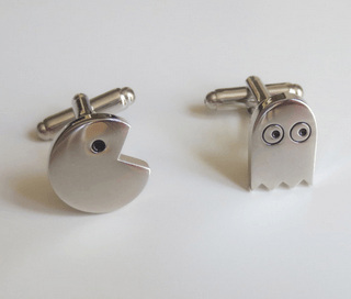Pacman & Ghost Cufflinks Cuff Links Pac man Superhero Video Game Groom Groomsmen Gift - MarkandMetal.com