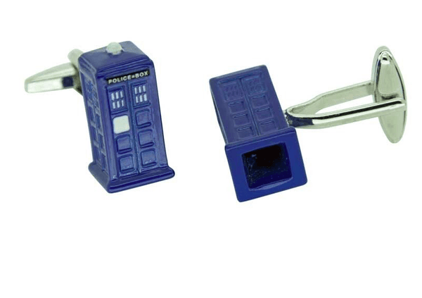 Dr Doctor Who Cufflinks Police Phone Box TARDIS - Men's Accessories and gifts for him
