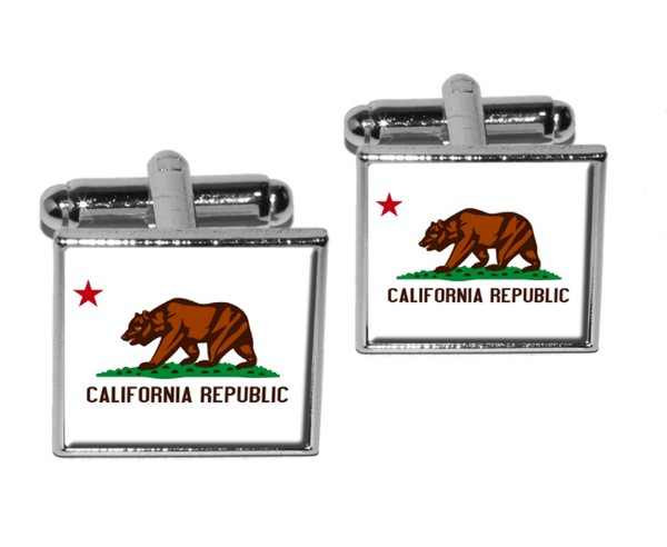 California State Cufflinks (Gold and Silver Colors) - MarkandMetal.com