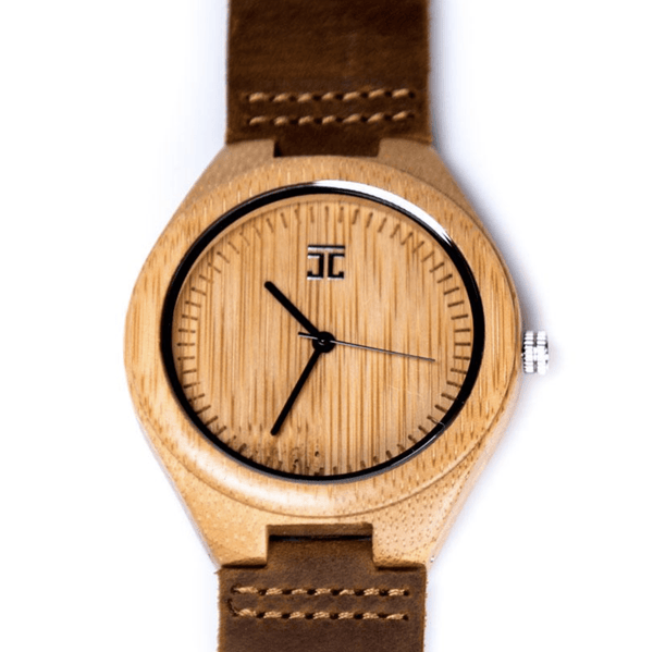 Wooden Watch | Bamboo - Leather Band - MarkandMetal.com