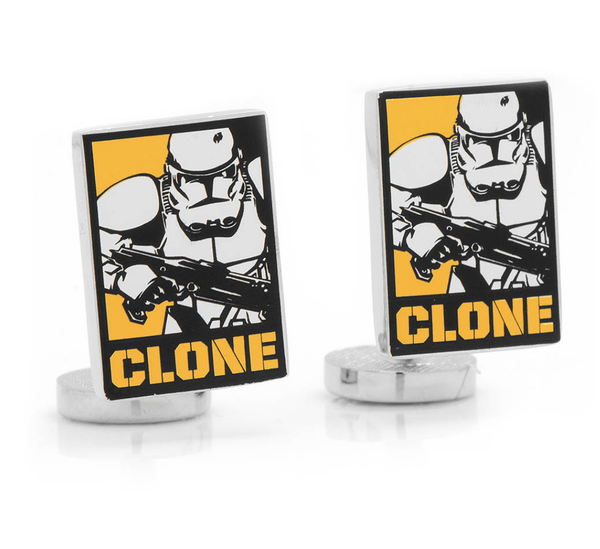Clone Trooper Pop Art Poster Cufflinks by Star Wars - MarkandMetal.com