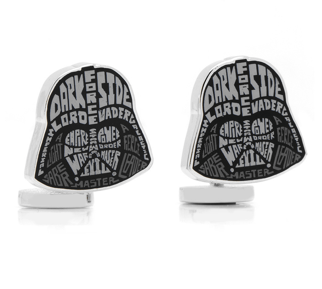Darth Vader Typography Cuffinks by Star Wars - MarkandMetal.com