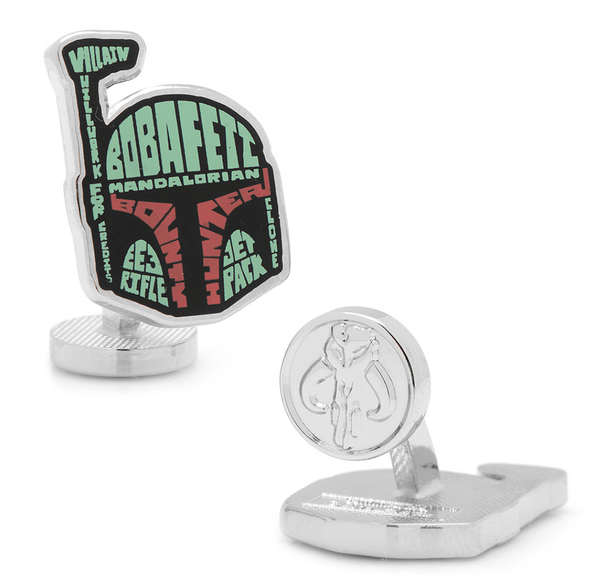 Boba Fett Typography Cufflinks BY STAR WARS - MarkandMetal.com
