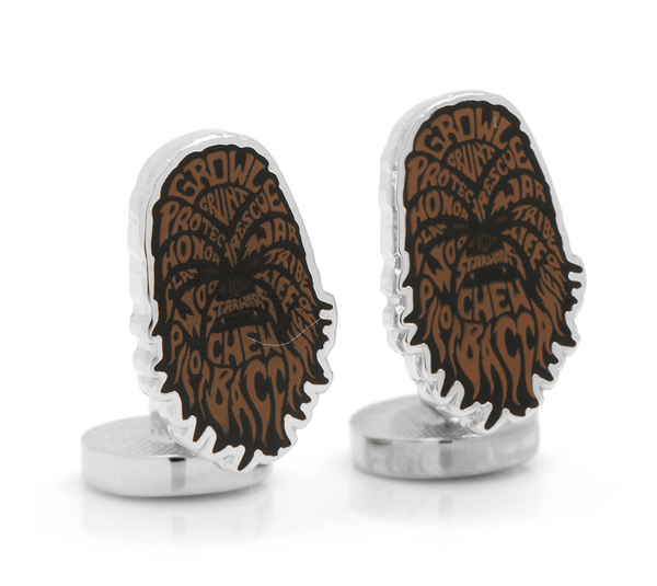 Chewbacca Typography Cufflinks by STAR WARS - Groomsmen Groom Wedding Gift For Him