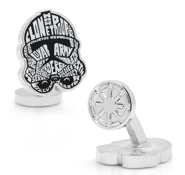 Clone Trooper Typography Cufflinks BY STAR WARS - MarkandMetal.com