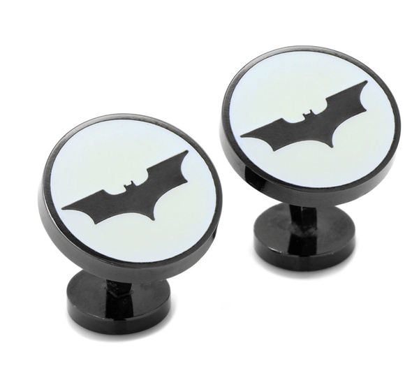 Batman Dark Knight Signal Glow-in-the-Dark Cufflinks - MarkandMetal.com