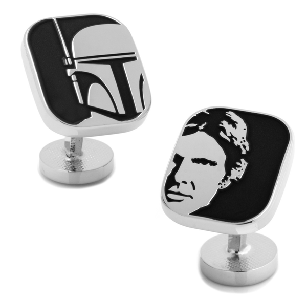 Han Solo and Boba Fett Cufflinks BY STAR WARS - MarkandMetal.com