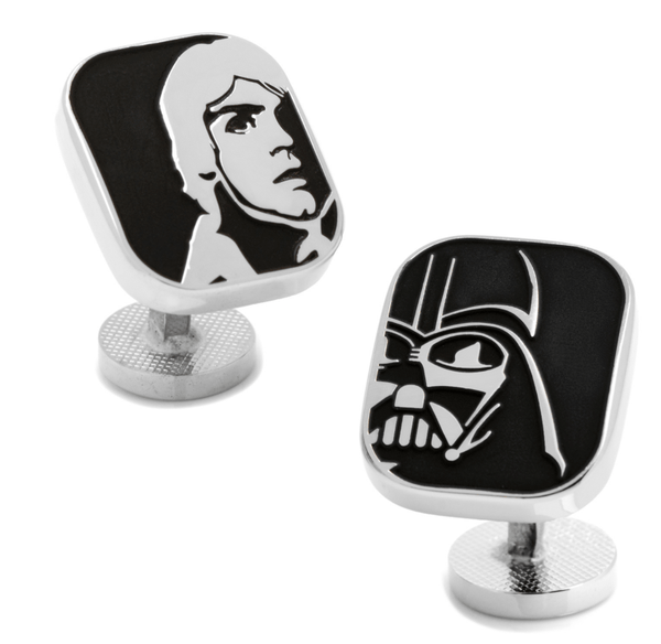 Darth Vader and Luke Skywalker Cufflinks BY STAR WARS - MarkandMetal.com