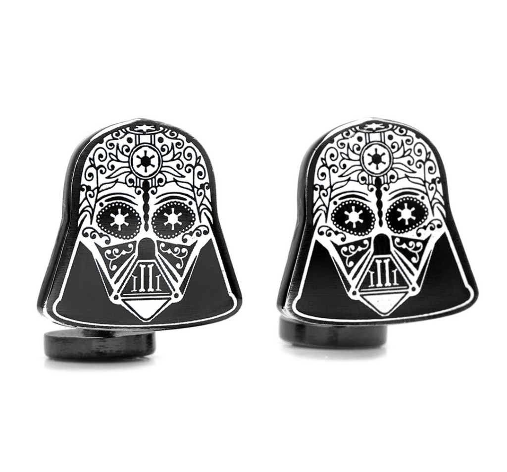 Darth Vader Sugar Skull Cufflinks BY STAR WARS - Groomsmen Groom Wedding Gift For Him