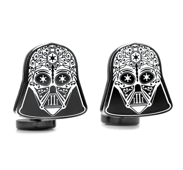 Darth Vader Sugar Skull Cufflinks BY STAR WARS - MarkandMetal.com