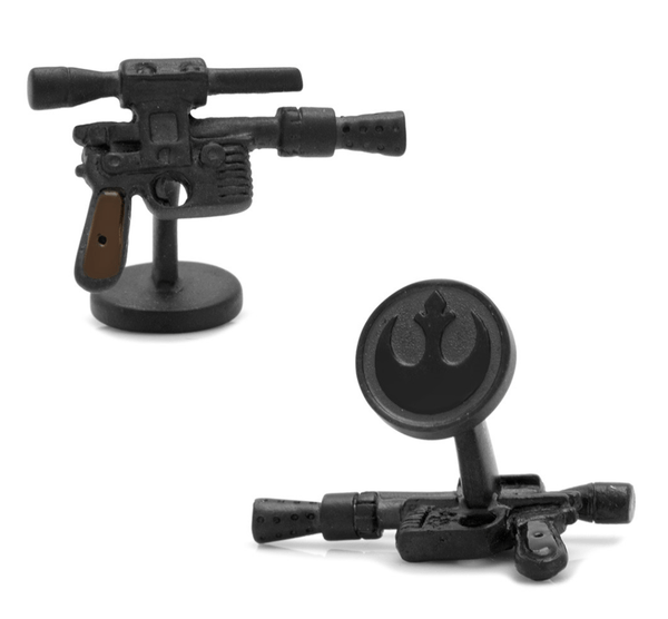 Han Solo 3D DL44 Blaster Cufflinks BY STAR WARS - MarkandMetal.com